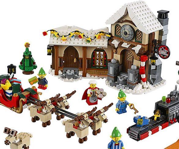 Il villaggio di Babbo Natale con i Lego