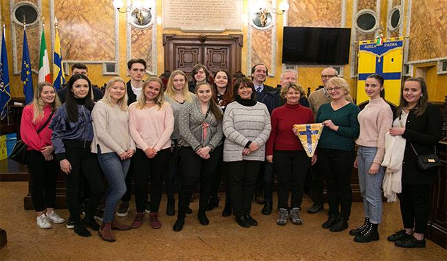 Scambio e ospitalità del liceo Romagnosi con una classe di studenti svedesi
