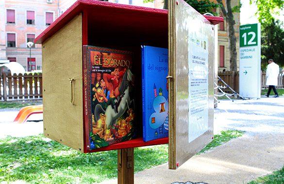 I libri abitano il giardino dell'Ospedale dei bambini Pietro Barilla