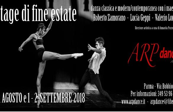 ARP dance, arte e corpi in movimento – Stage di Fine Estate 2018