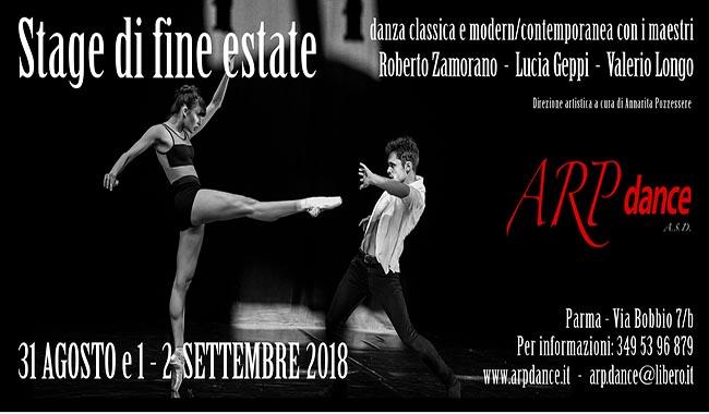 ARP dance, arte e corpi in movimento – Stage di Fine Estate 2018