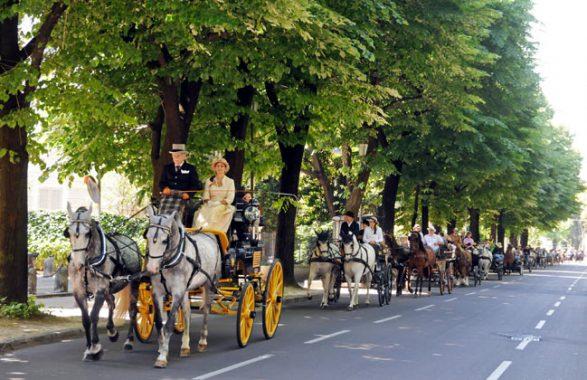 Carrozze e Cavalli in Cittadella a Parma il 30 settembre 2018