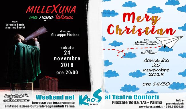 "Un weekend da ""Sognambuli"": due spettacoli in programma"
