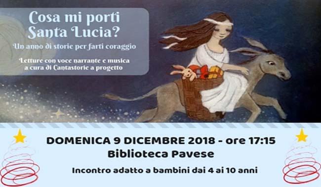 Cosa mi porti Santa Lucia? alla Biblioteca Pavese