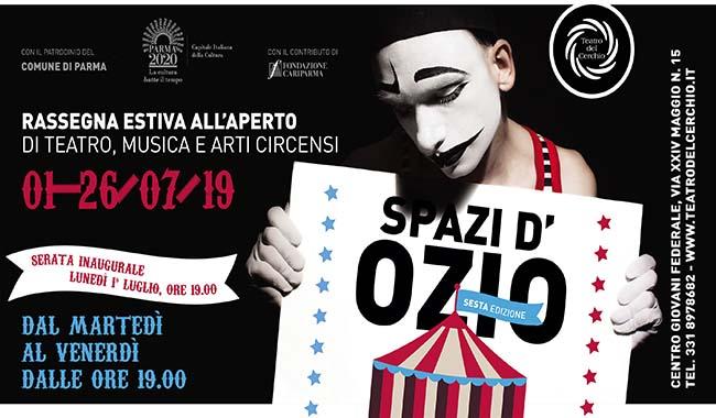 """Dal 1° luglio torna """"Spazi d'Ozio"""", la rassegna estiva del Teatro del Cerchio"""
