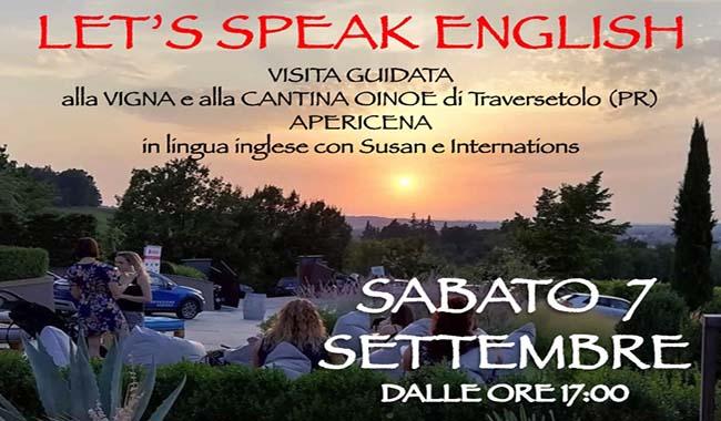 Let's speak English, apericena a Traversetolo per grandi e piccini